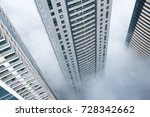 looking down from highrise... | Shutterstock . vector #728342662