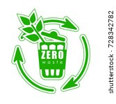 icon zero waste  sign of... | Shutterstock .eps vector #728342782
