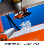 the milling machine processes... | Shutterstock . vector #728348965