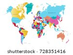 color world map | Shutterstock .eps vector #728351416