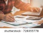 a businessman analyzing... | Shutterstock . vector #728355778