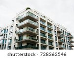 modern apartment house with... | Shutterstock . vector #728362546