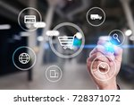 e commerce. internet shopping.... | Shutterstock . vector #728371072