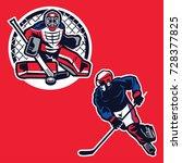 hockey player illustration... | Shutterstock .eps vector #728377825