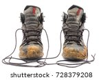 hiking dirty boots isolated on... | Shutterstock . vector #728379208