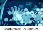 businessman holding technology | Shutterstock . vector #728385025