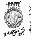 turkey hand drawn vector... | Shutterstock .eps vector #728399692