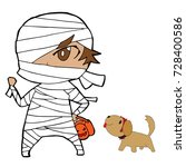vector of boy in mummy... | Shutterstock .eps vector #728400586