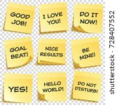 sticky note with text and... | Shutterstock .eps vector #728407552