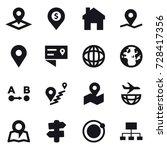 16 vector icon set   pointer ... | Shutterstock .eps vector #728417356