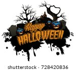 happy halloween isolated title... | Shutterstock . vector #728420836