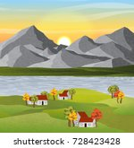 Autumn Vector Landscape With...