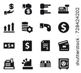 16 vector icon set   investment ... | Shutterstock .eps vector #728424202
