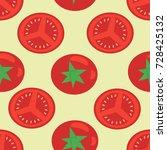 vector seamless pattern of... | Shutterstock .eps vector #728425132