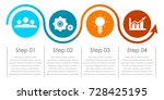 business infographics with... | Shutterstock .eps vector #728425195