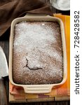 rustic chocolate cake with nuts ... | Shutterstock . vector #728428582