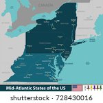 vector map of mid atlantic...