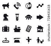 16 vector icon set  ...