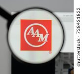 Small photo of Milan, Italy - August 10, 2017: American Axle & Manufacturing website homepage. It is a manufacturer of automobile. AAM logo visible.
