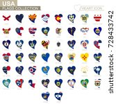 vector flag collection of usa... | Shutterstock .eps vector #728433742