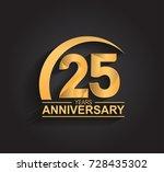 25 years anniversary... | Shutterstock .eps vector #728435302