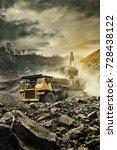 big mining dumping truck   Shutterstock . vector #728438122