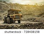 big mining dumping truck | Shutterstock . vector #728438158