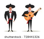 funny cartoon character  strong ... | Shutterstock .eps vector #728441326
