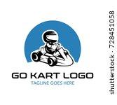 go kart logo illustration | Shutterstock .eps vector #728451058