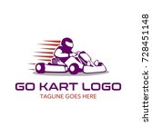 go kart logo illustration | Shutterstock .eps vector #728451148