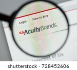 Small photo of Milan, Italy - August 10, 2017: Acuity Brands website homepage. It is an electronics manufacturing company. Acuity Brands logo visible.