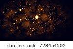 gold abstract bokeh background. ...   Shutterstock . vector #728454502