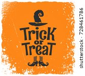 trick or treat halloween witch... | Shutterstock .eps vector #728461786