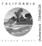 photo print california beach...   Shutterstock . vector #728468128