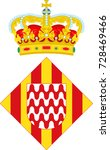 coat of arms of girona is a... | Shutterstock .eps vector #728469466