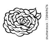 flower rose  black and white....   Shutterstock .eps vector #728469676