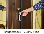 smart entrance door | Shutterstock . vector #728477455