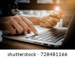 online payment man's hands... | Shutterstock . vector #728481166
