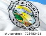 alaska flag seal. state of... | Shutterstock . vector #728483416