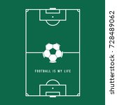 football soccer field... | Shutterstock .eps vector #728489062