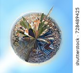 small planet consisting of... | Shutterstock . vector #728489425