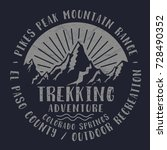mountain trekking sport... | Shutterstock .eps vector #728490352