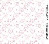 outline seamless cute geometric ... | Shutterstock .eps vector #728493862