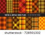 fall foliage colors tartan and... | Shutterstock .eps vector #728501332