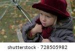 little girl with an umbrella in ...   Shutterstock . vector #728505982