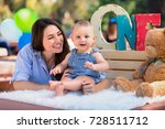 adorable infant baby on first... | Shutterstock . vector #728511712