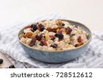steel cut oats served with... | Shutterstock . vector #728512612
