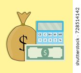 count money . finance currency  ... | Shutterstock . vector #728514142