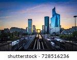 la defense business district at ... | Shutterstock . vector #728516236