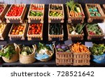 many different fresh fruits and ... | Shutterstock . vector #728521642